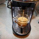 Der Kaffeeauslauf bei der Pixie