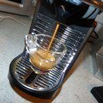 Kaffeeauslauf bei der Nespresso Pixie