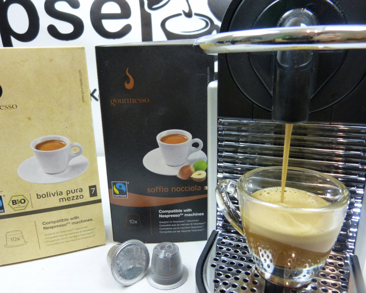 gourmesso kaffeekapseln im test kompatibel mit nespresso016 kapsel. Black Bedroom Furniture Sets. Home Design Ideas