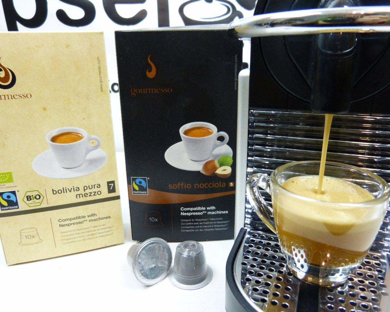 gourmesso kaffeekapseln im test kompatibel mit nespresso017 kapsel. Black Bedroom Furniture Sets. Home Design Ideas