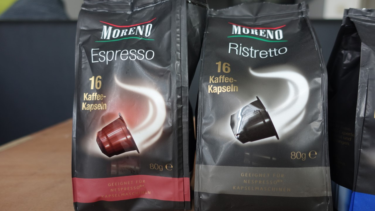 moreno kaffeekapseln aldi nespresso test testbericht 002 kapsel. Black Bedroom Furniture Sets. Home Design Ideas