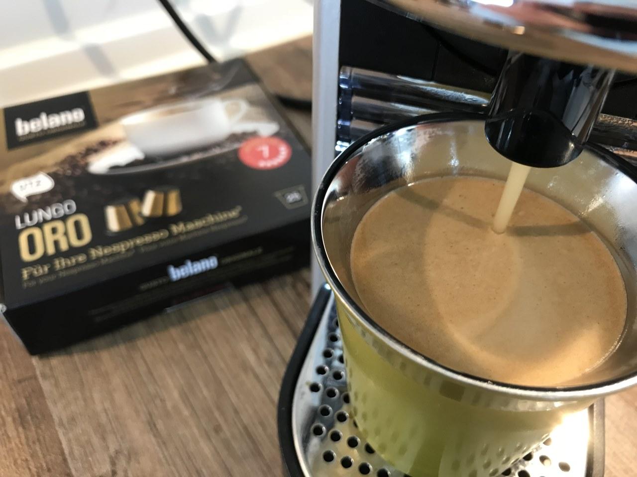 belano kaffeekapseln nespresso system maschine test. Black Bedroom Furniture Sets. Home Design Ideas